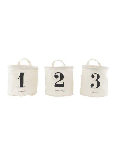 House Doctor Laundry basket black & white | set 3 | 1-2-3