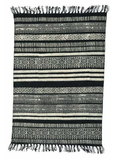 House Doctor Rug Stack, black/grey/nude, 90x200 cm.