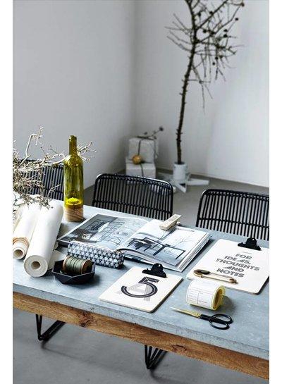 House Doctor Schaal | Bowl geometry, textured black