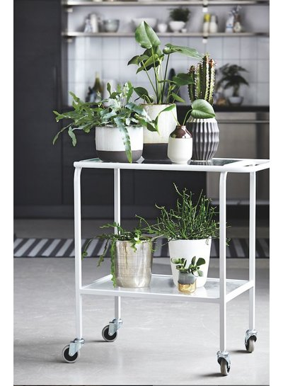 House Doctor Vase, Earth, grey/black