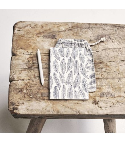 Atelier Sukha Notebook Vera feather print