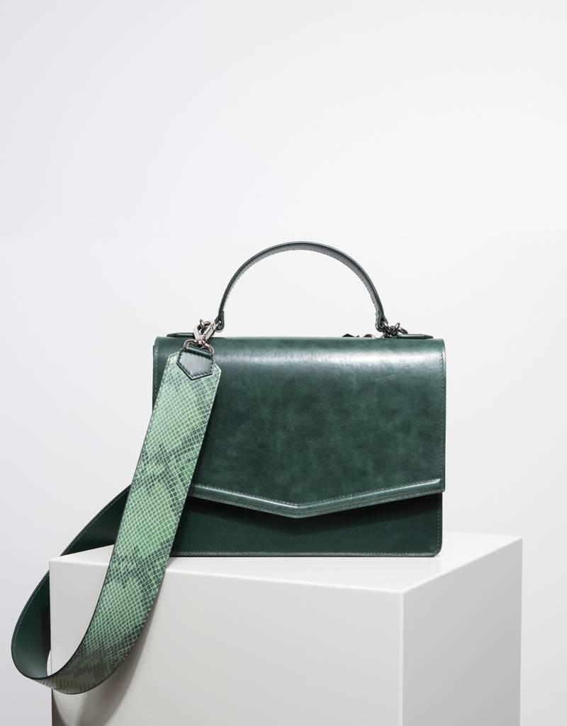 Fan Handbag Forest Green