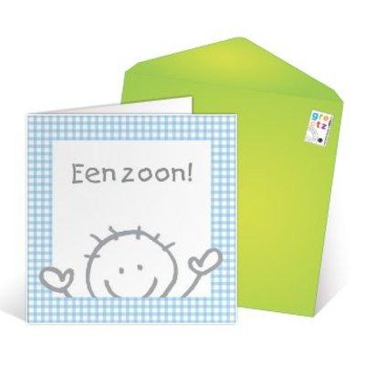 Grußkarte 'Hoera een zoon'