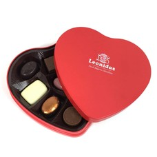 Leonidas Coeur en métal 9 chocolats