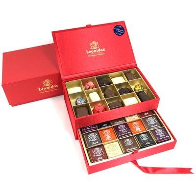 Leonidas Boîte de Luxe en velours rouge