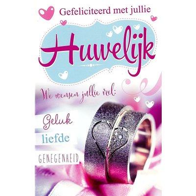 Grußkarte 'Gefeliciteerd met jullie Huwelijk'