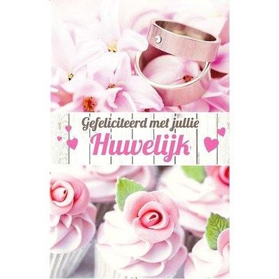 Carte de voeux 'Gefeliciteerd met jullie Huwelijk'
