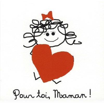 Grußkarte 'Pour toi, Maman'