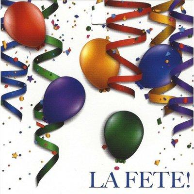 Greeting Card 'La Fête!'