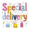 Grußkarte 'Special delivery'