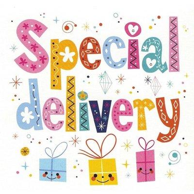 Wenskaart 'Special delivery'