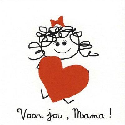 Grußkarte 'Voor jou, Mama'