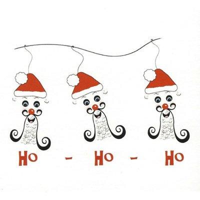 Grußkarte 'Ho-Ho-Ho'