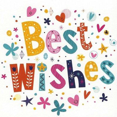 Wenskaart 'Best Wishes'