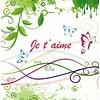 Carte de voeux 'Je t'aime'