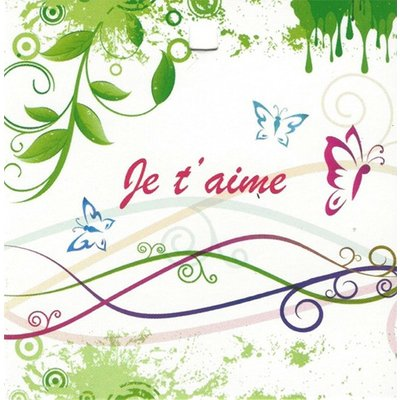 Greeting Card 'Je t'aime'
