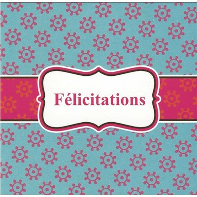 Greeting Card 'Félicitations'