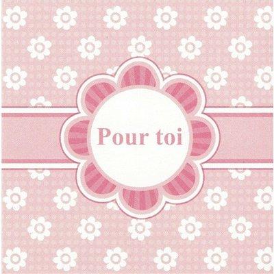 Wenskaart 'Pour toi'