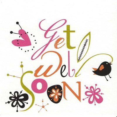 Grußkarte 'Get well soon'