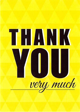 Wenskaart Thank You Very Much Leonidas Online Shop Gistel