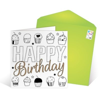 Carte de voeux 'Happy birthday to you'