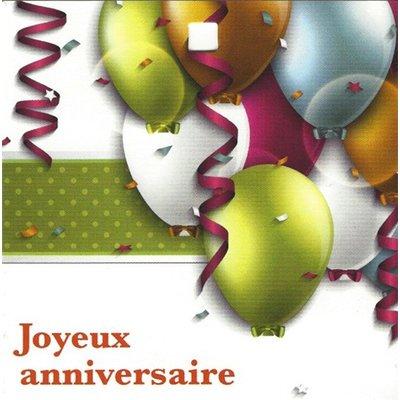 Grußkarte 'Joyeux Anniversaire'