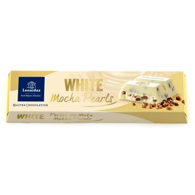 Leonidas Bar White with Mocha Pearls 45g