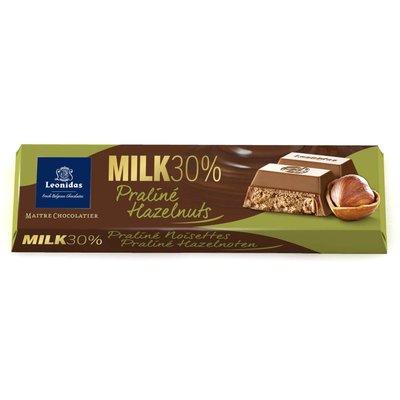 Leonidas Bar Milk 30% cocoa - Praliné Hazelnuts 50g