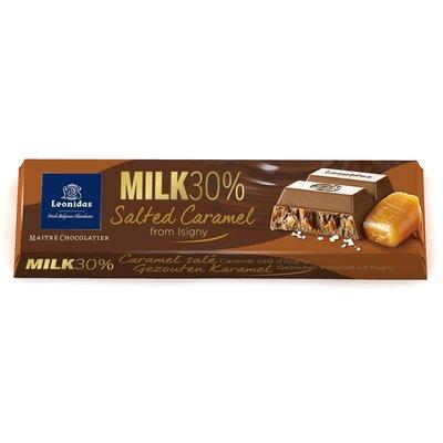 Leonidas Bâton Lait 30% cacao - Caramel de beurre salé 50g