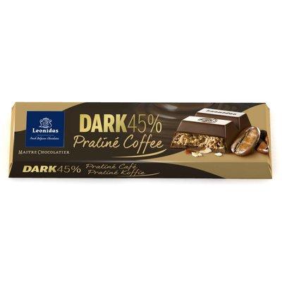 Leonidas Bar Dark 45% cocoa - Praliné Coffee 50g