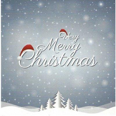 Wenskaart 'Merry Christmas'