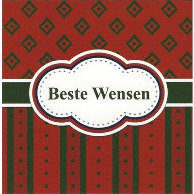 Wenskaart 'Beste wensen'