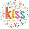 Grußkarte 'Kiss'