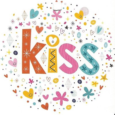 Carte de voeux 'Kiss'