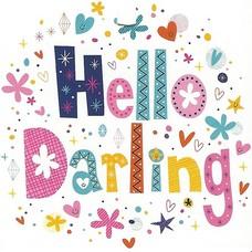 Hello Darling (7x7cm)
