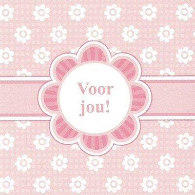 Greeting Card 'Voor jou!'