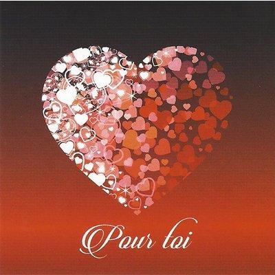 Grußkarte 'Pour toi'
