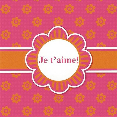 Greeting Card 'Je t'aime!'