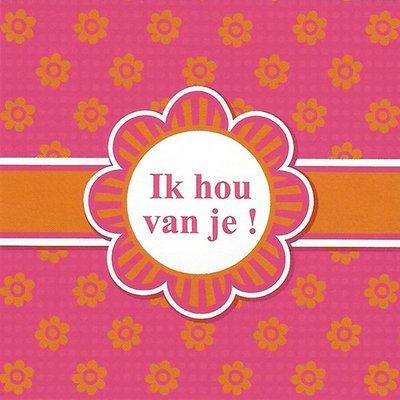 Grußkarte 'Ik hou van je!'