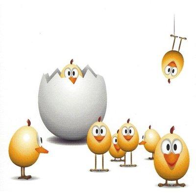 Wenskaart 'Vrolijk Pasen'