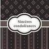 Greeting Card 'Sincères condoléances'