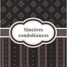 Sincères condoléances (7x7cm)