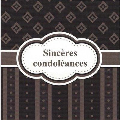 Grußkarte 'Sincères condoléances'
