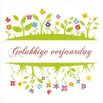 Carte de voeux 'Gelukkige verjaardag'
