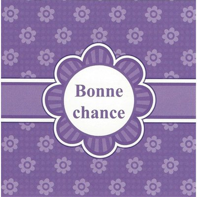 Grußkarte 'Bonne chance'