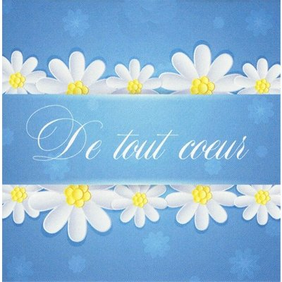 Grußkarte 'De tout Coeur'