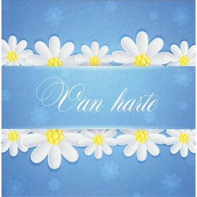 Greeting Card 'Van harte'