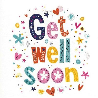 Carte de voeux 'Get well soon'