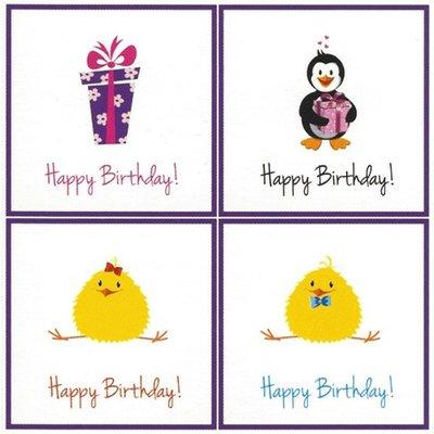 Carte de voeux 'Happy Birthday'