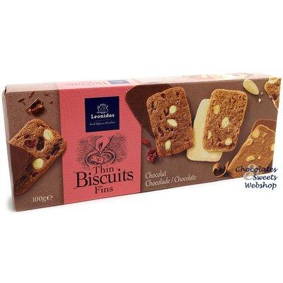Leonidas Thin almond biscuits - Chocolate 100g